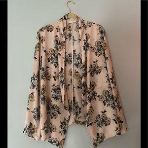Light pink flower blazer